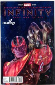 Infinity #1 Hastings Retailer Thanos Variant (2013) Marvel comic book
